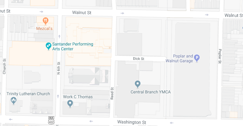 Event Parking and Santander Performing Arts Center Map